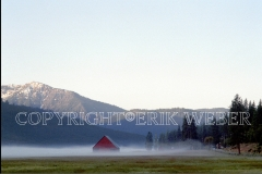 Barn in Fog, North Arm, Indian Valley, California, March 1997